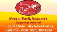 mexican restaurant appleton, little chute, mexican food appleton